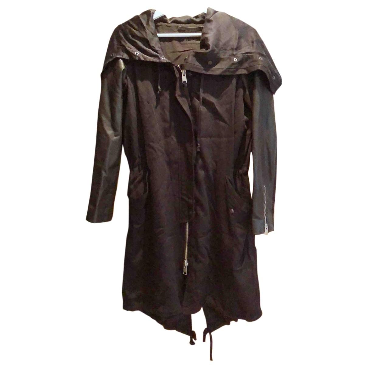 All Saints \N Black Cotton Trench coat for Women 8 UK
