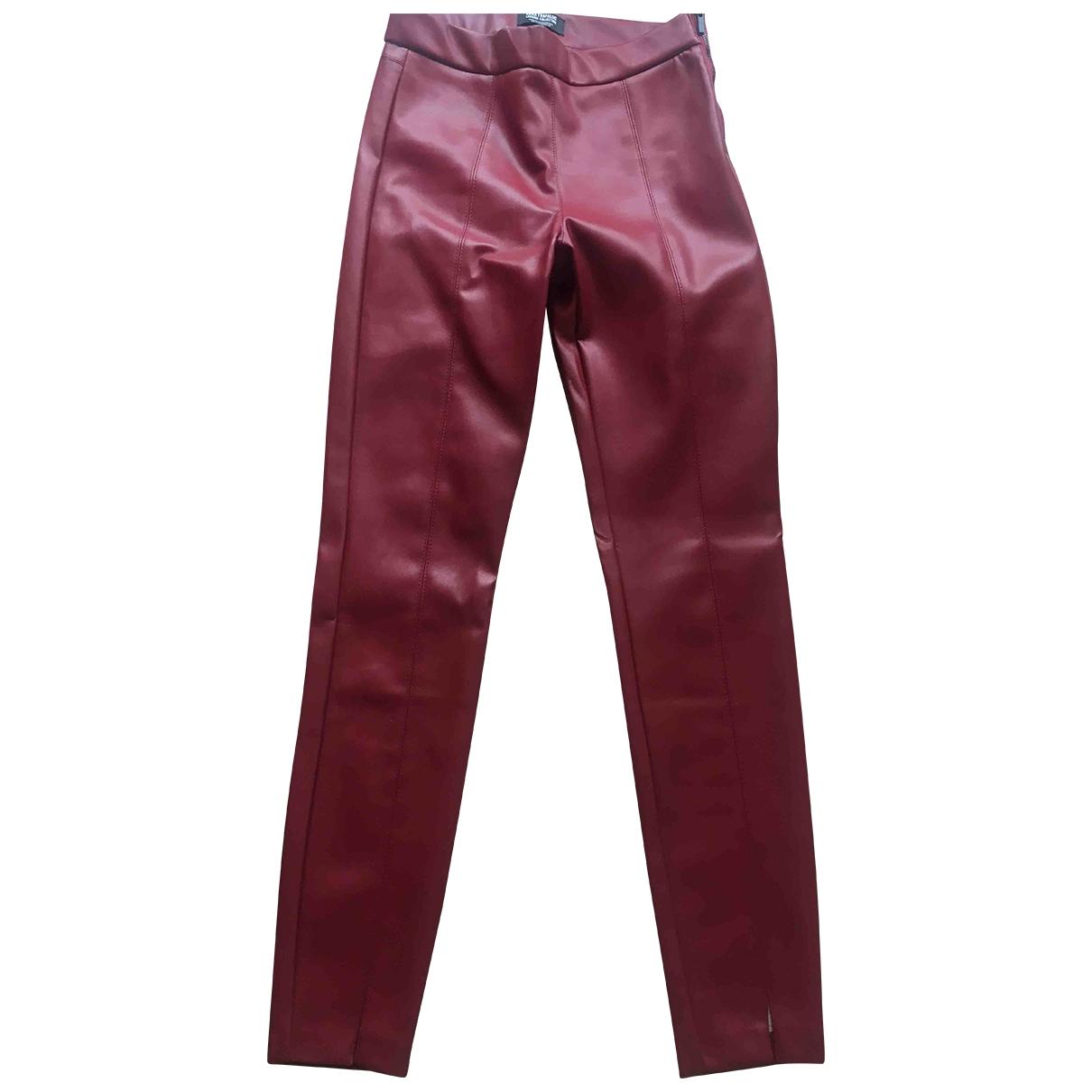 Zara \N Burgundy Trousers for Women S International