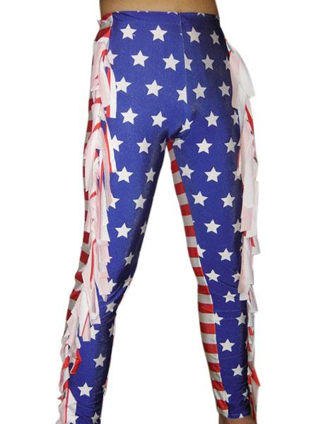 Milanoo Disfraz Halloween Pantalones de elastano de marca LYCRA con estampado de bandera nacional Halloween