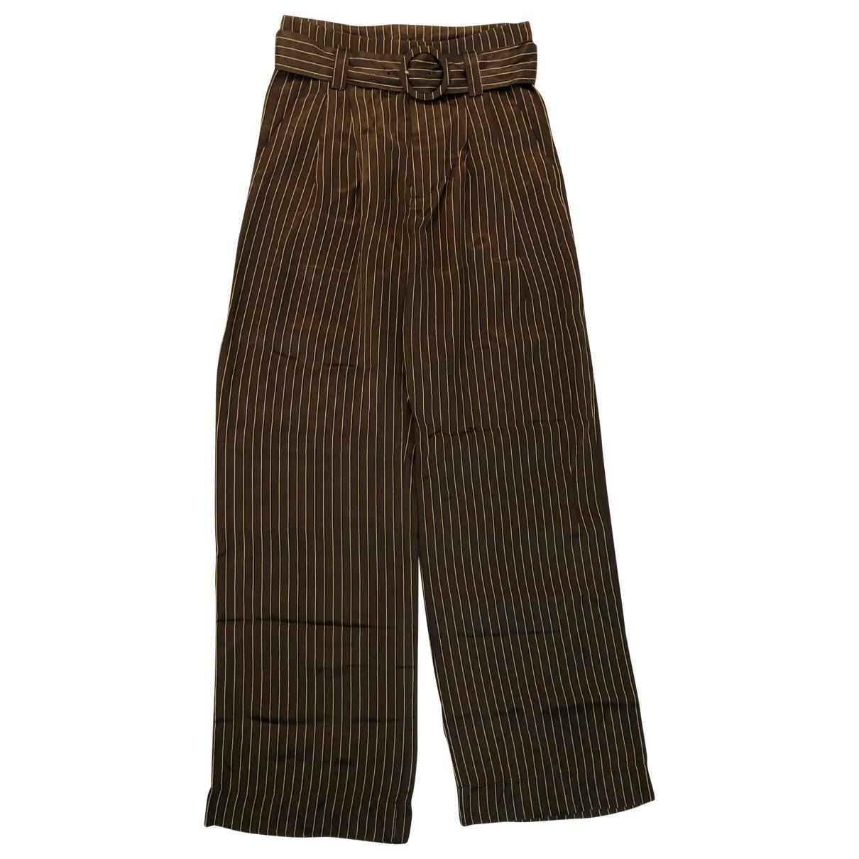 Gestuz \N Brown Trousers for Women 36 FR