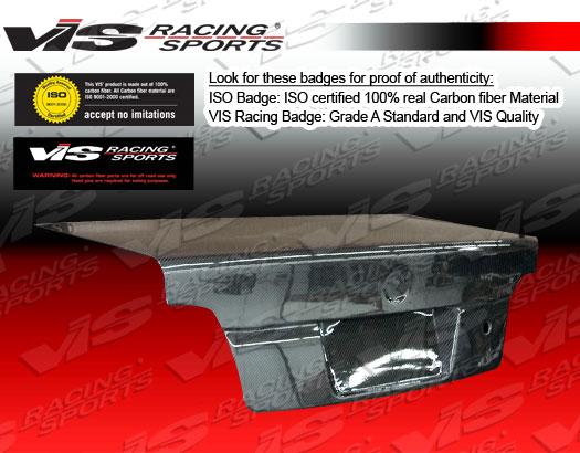 VIS Racing 99BME462DOE-020C Carbon Fiber OEM-Euro Trunk Lid BMW 318i E46 2dr 01-05