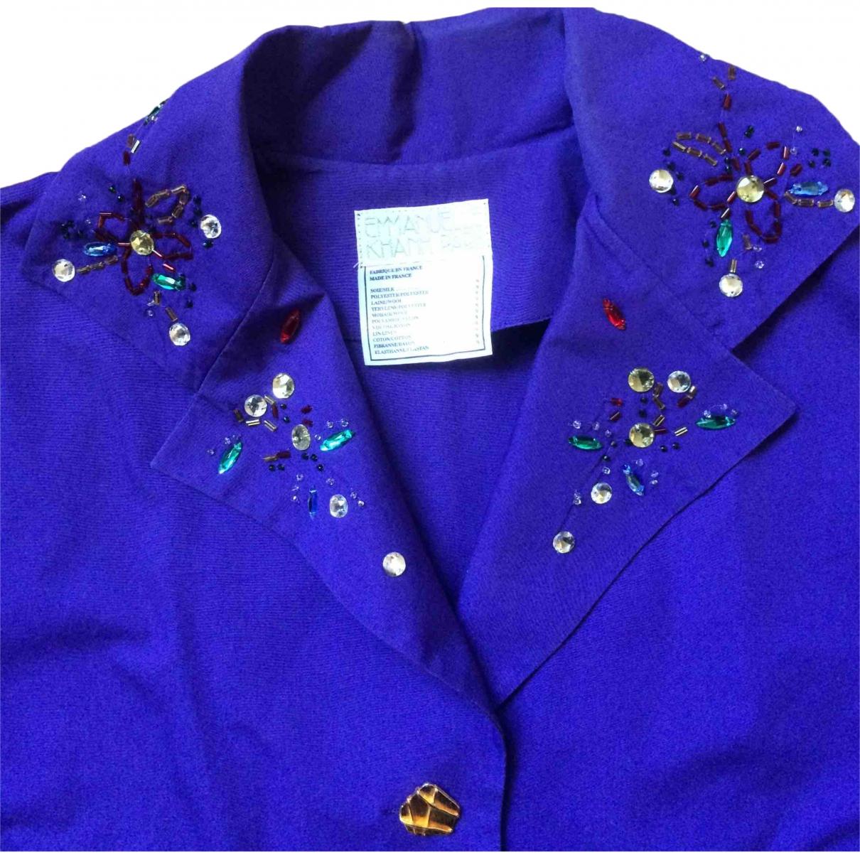 Emmanuelle Khanh \N Purple Cotton jacket for Women 40 FR