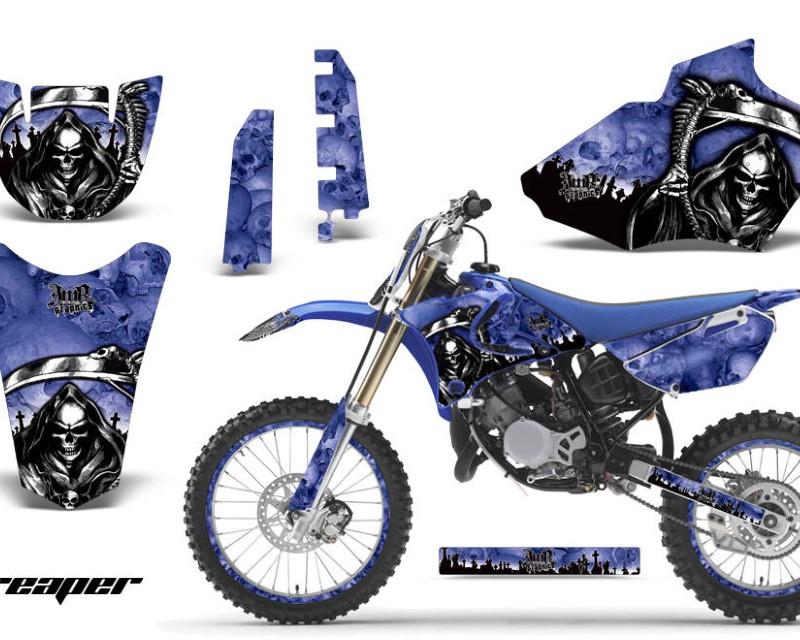 AMR Racing Graphics MX-NP-YAM-YZ85-02-14-RP U Kit Decal Sticker Wrap + # Plates For Yamaha YZ85 2002-2014áREAPER BLUE