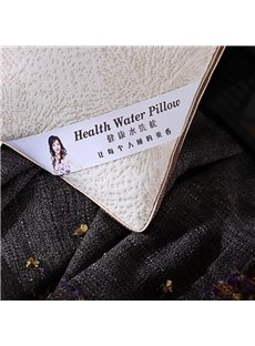 Unique Texture Design Solid White Polyester Filler Health Water Bed Pillow
