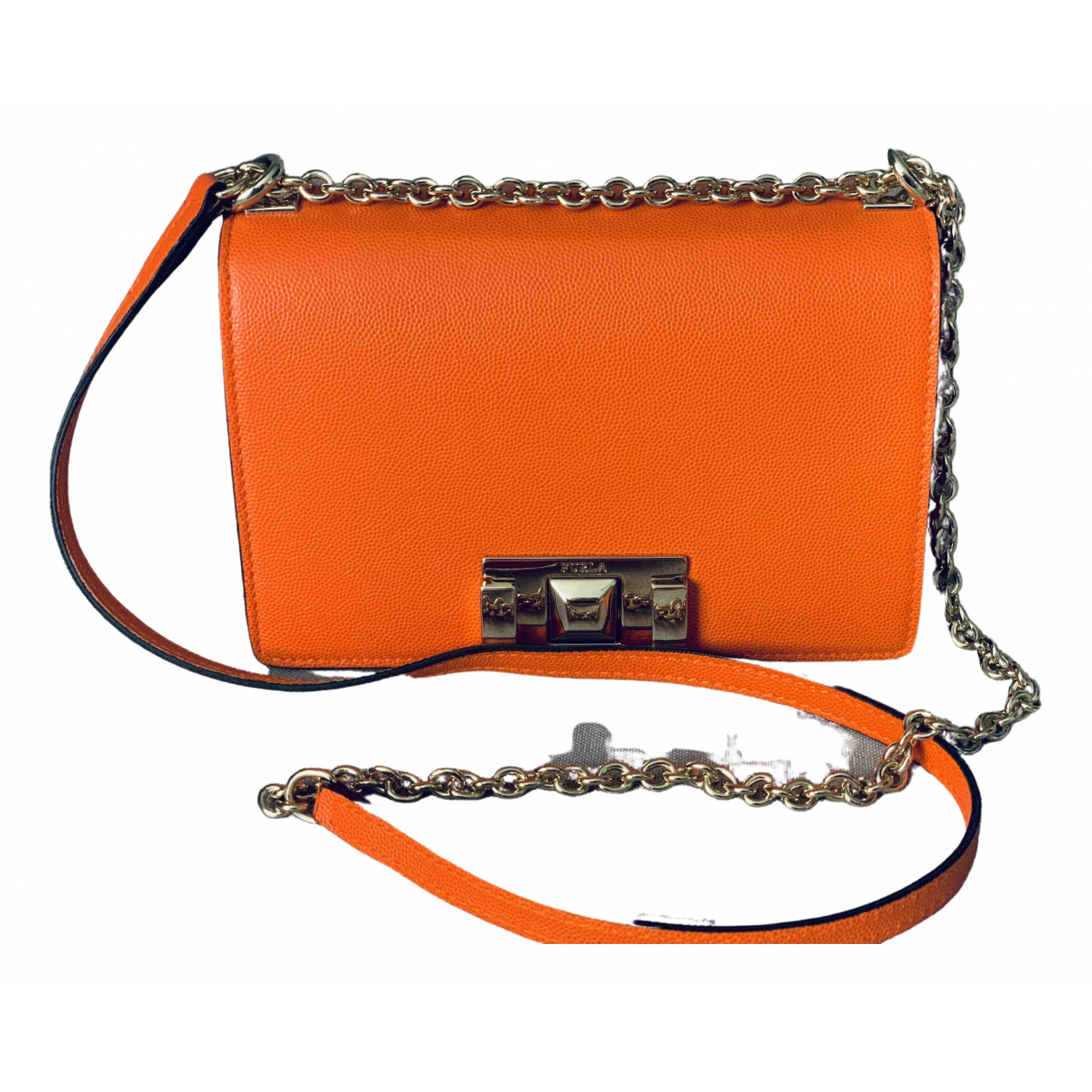 Furla \N Orange Leather handbag for Women \N