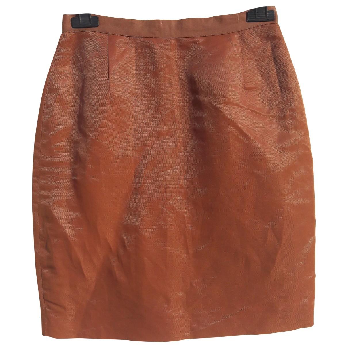 Versace Jean - Jupe   pour femme en lin - marron