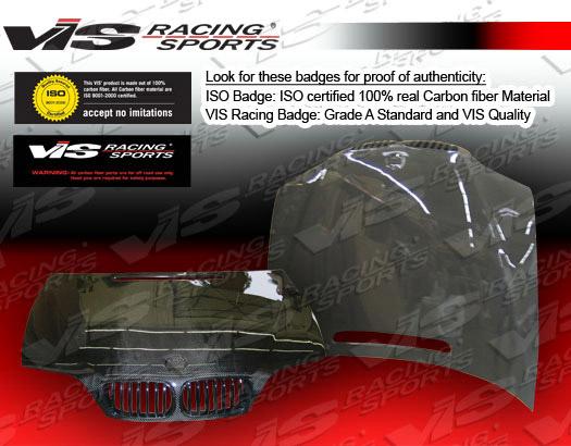 VIS Racing 02BME464DOE-010C Carbon Fiber OEM Style Hood BMW 318i E46 4dr 02-05