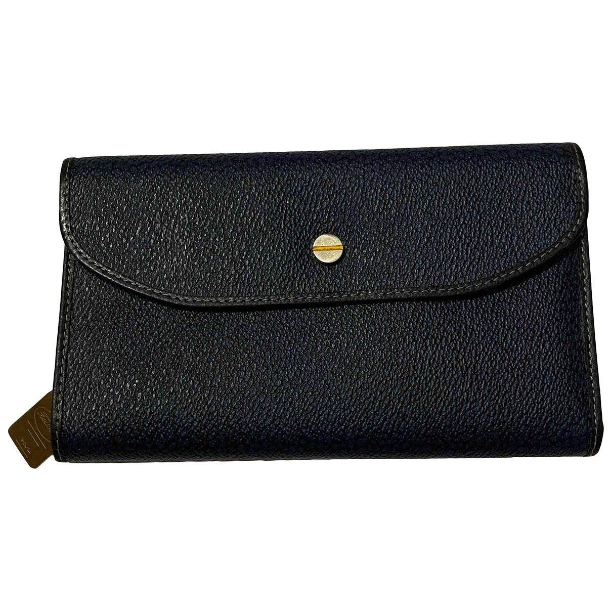 - Portefeuille   pour femme en toile - bleu