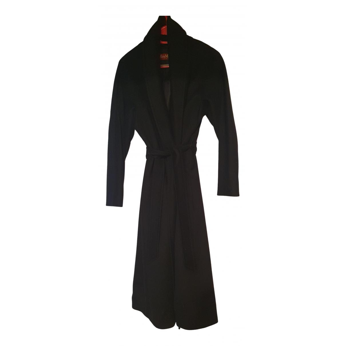 Max Mara Studio - Manteau   pour femme en laine - noir