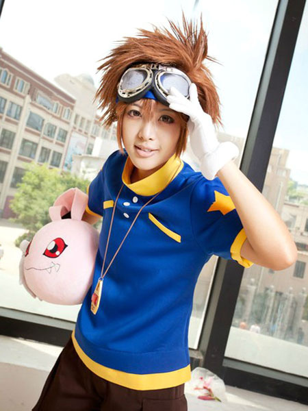 Milanoo Digital Monster YAagami Taichi Cosplay Costume Halloween