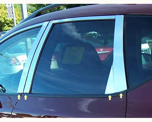 Quality Automotive Accessories 8-Piece Pillar Post Trim Kit with Triangle-Piece Nissan Murano 2011