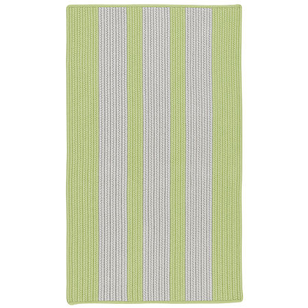 Colonial Mills Cayman Stripe Braided Rectangular Reversible Indoor/Outdoor Rugs, One Size , Green
