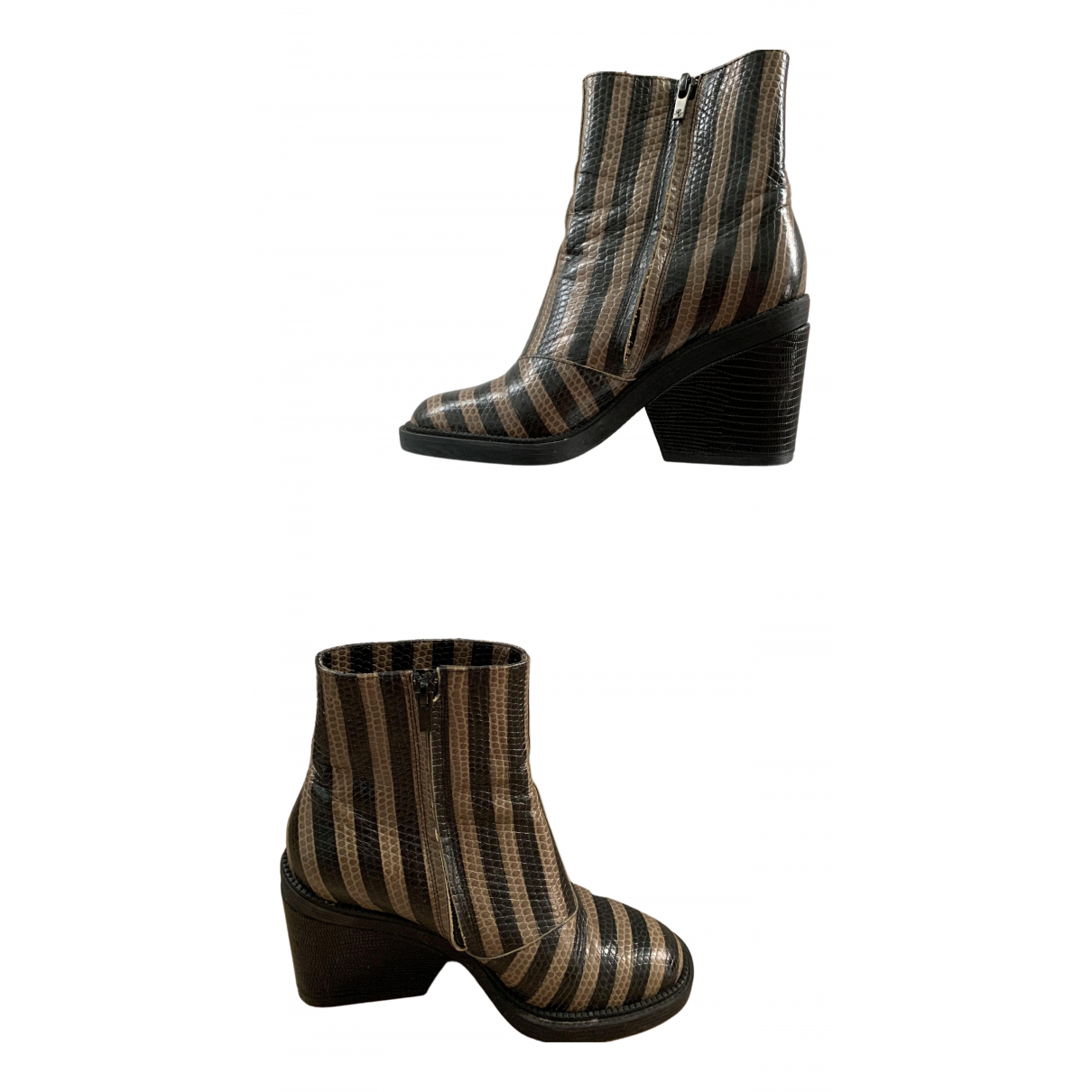 Robert Clergerie N Brown Patent leather Ankle boots for Women 37 EU