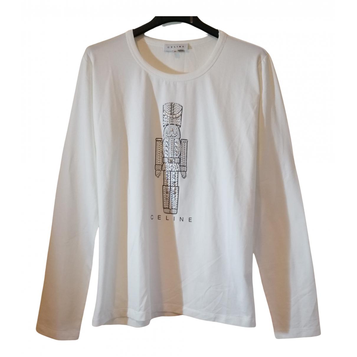 Celine - Pull   pour femme en coton - blanc
