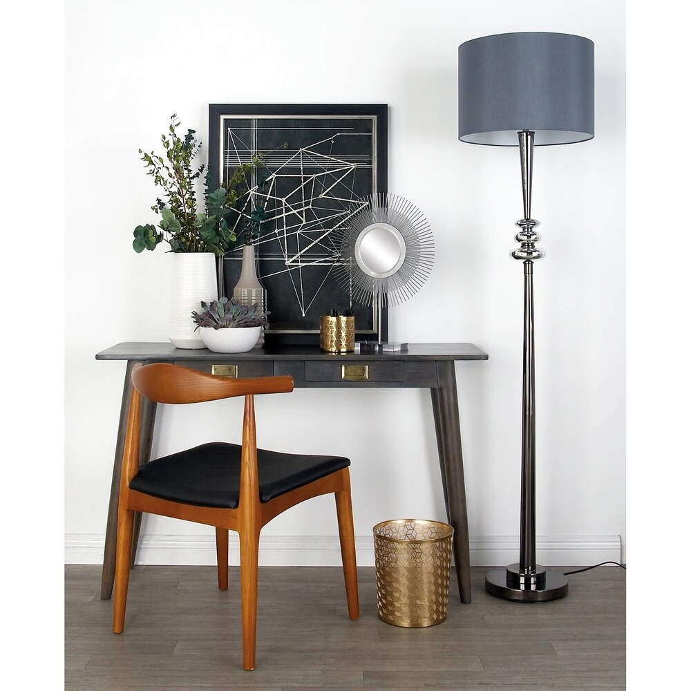 Modern 66 Inch Iron and Glass Vertical Floor Lamp by Studio 350