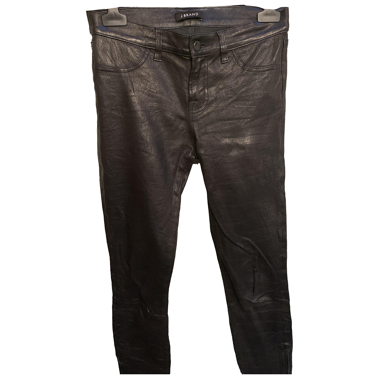 J Brand \N Black Leather Trousers for Women 42 IT