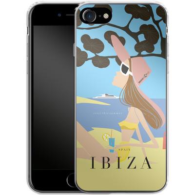 Apple iPhone 7 Silikon Handyhuelle - IBIZA TRAVEL POSTER von IRMA