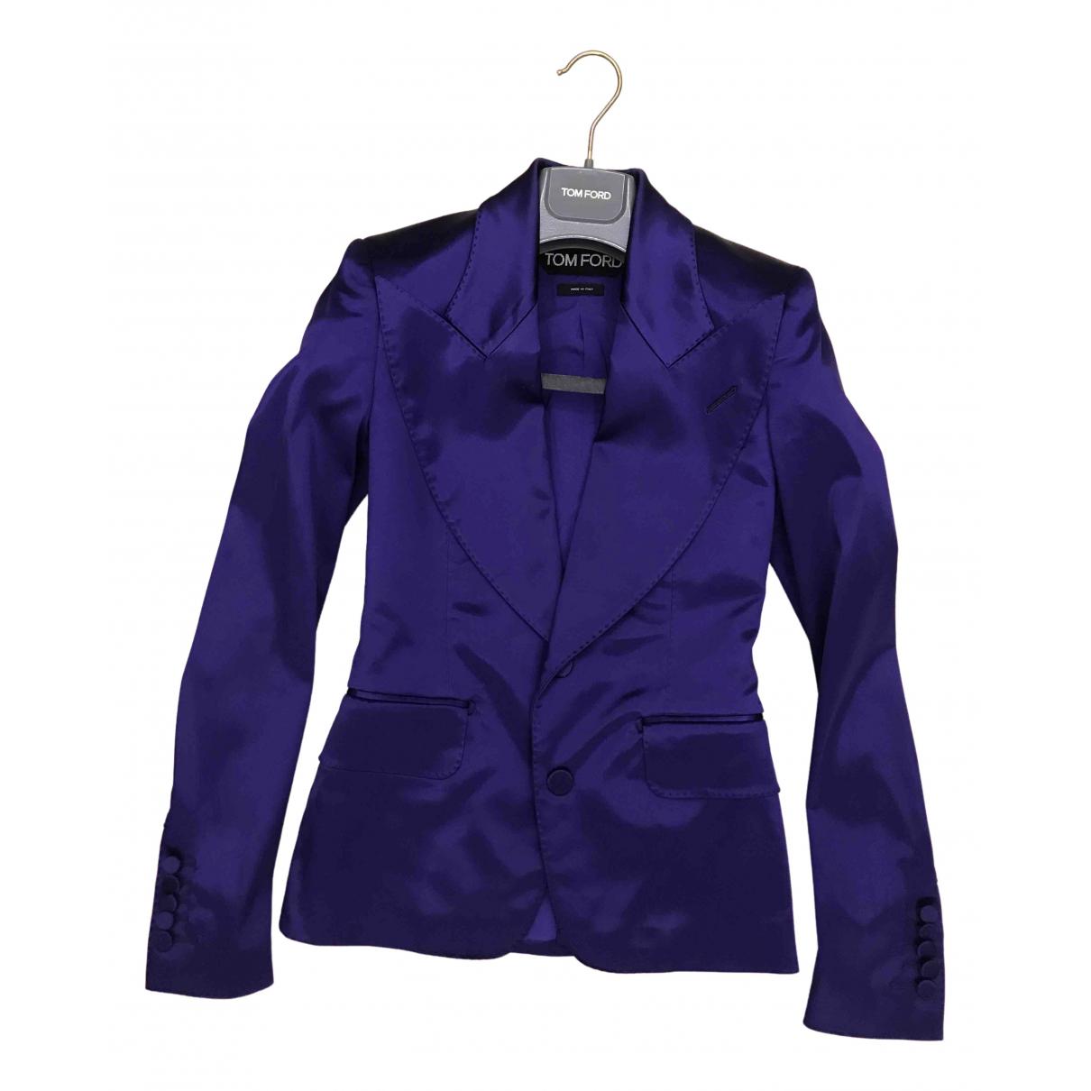 Tom Ford - Veste   pour femme en soie - violet
