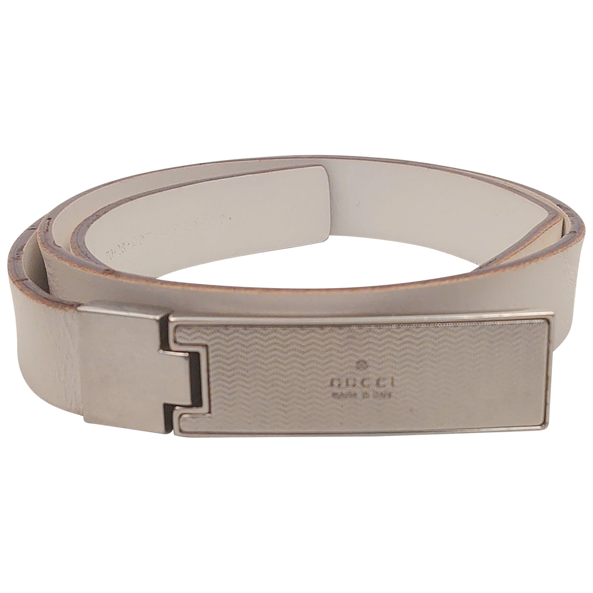 Gucci \N White Leather belt for Women 70 cm