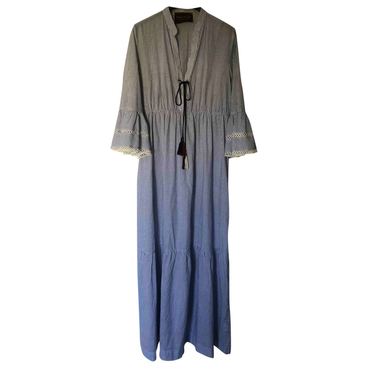Non Signé / Unsigned \N Navy Cotton dress for Women 44 IT