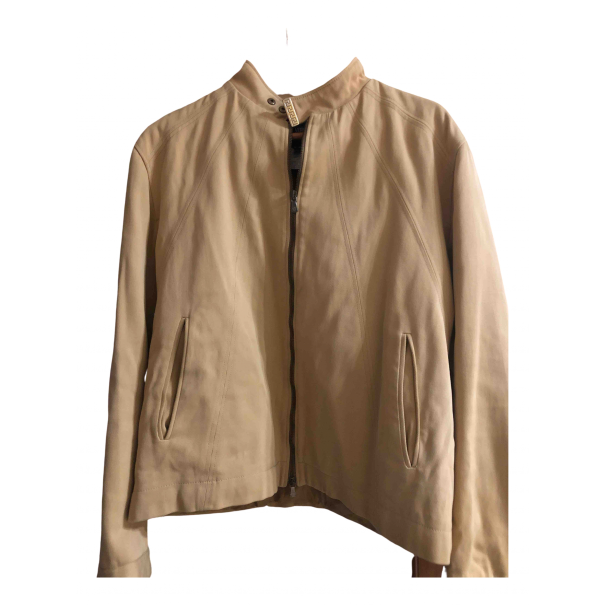 Versace Jeans \N Beige Denim - Jeans jacket  for Men XXL International