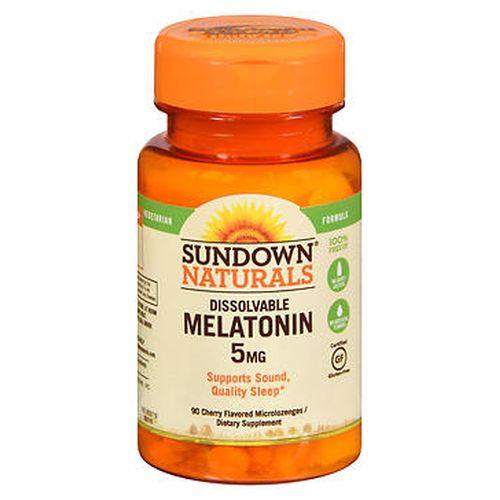 Sundown Naturals Dissolvable Melatonin Microlozenges Natural Cherry Flavor 90 Each by Sundown Naturals