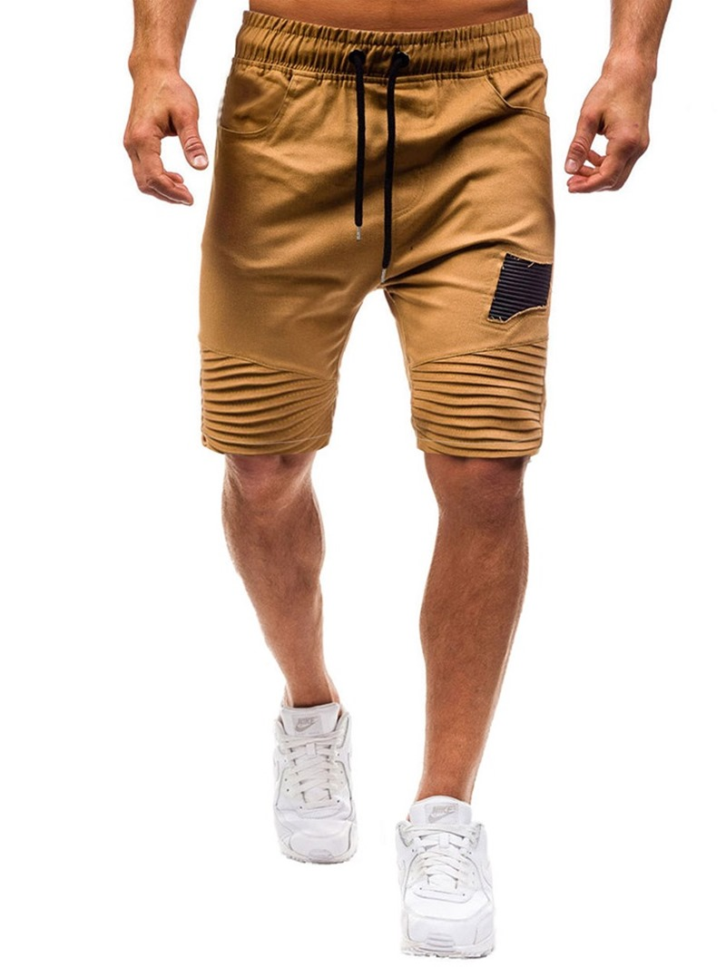 Ericdress Loose Patchwork Color Block Lace-Up Mens Casual Shorts