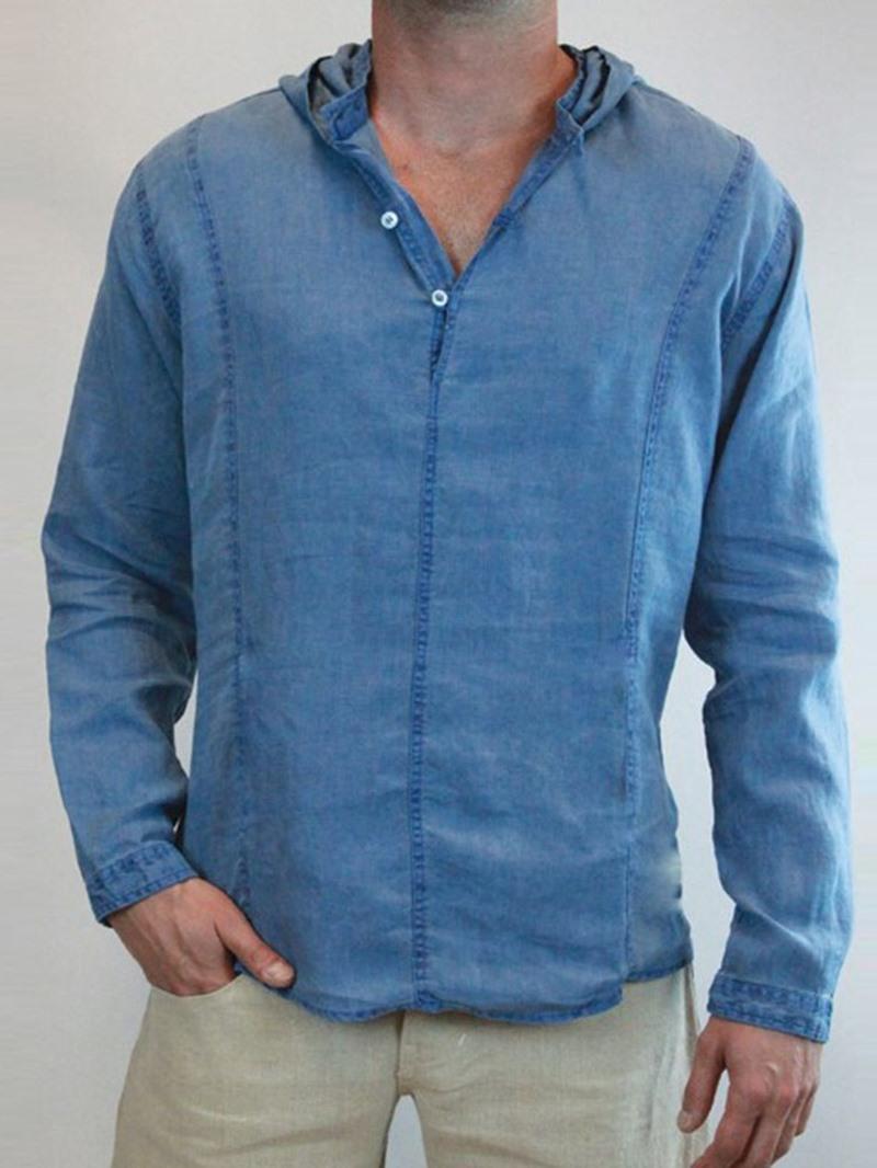Ericdress Plain Hooded European Fall Loose Shirt