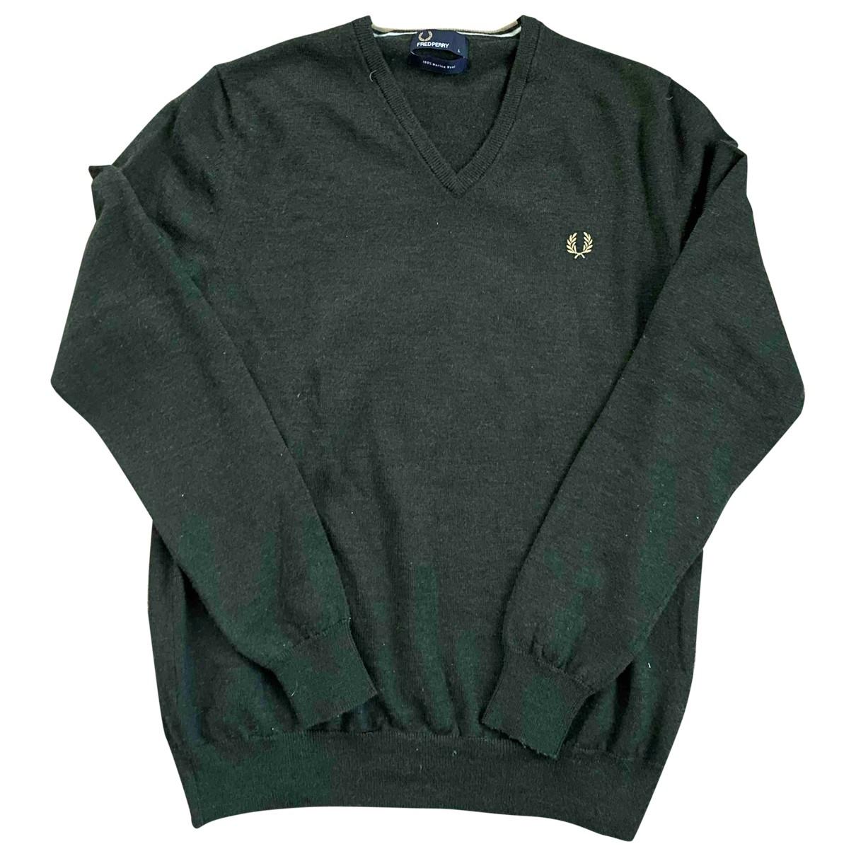 Fred Perry \N Pullover.Westen.Sweatshirts  in  Gruen Wolle