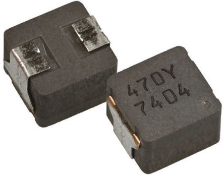 Panasonic , ETQP5M, PCC-M Wire-wound SMD Inductor with a Metal Composite Core, 100 μH ±20% Wire-Wound 2.1A Idc