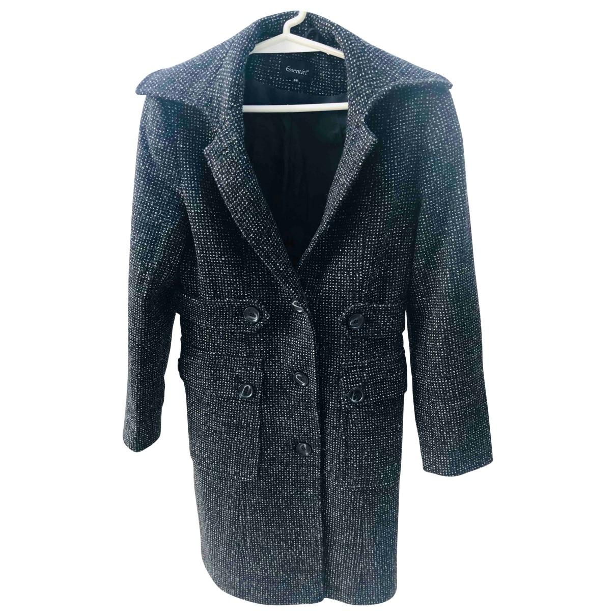 Essentiel Antwerp - Manteau   pour femme en laine - noir