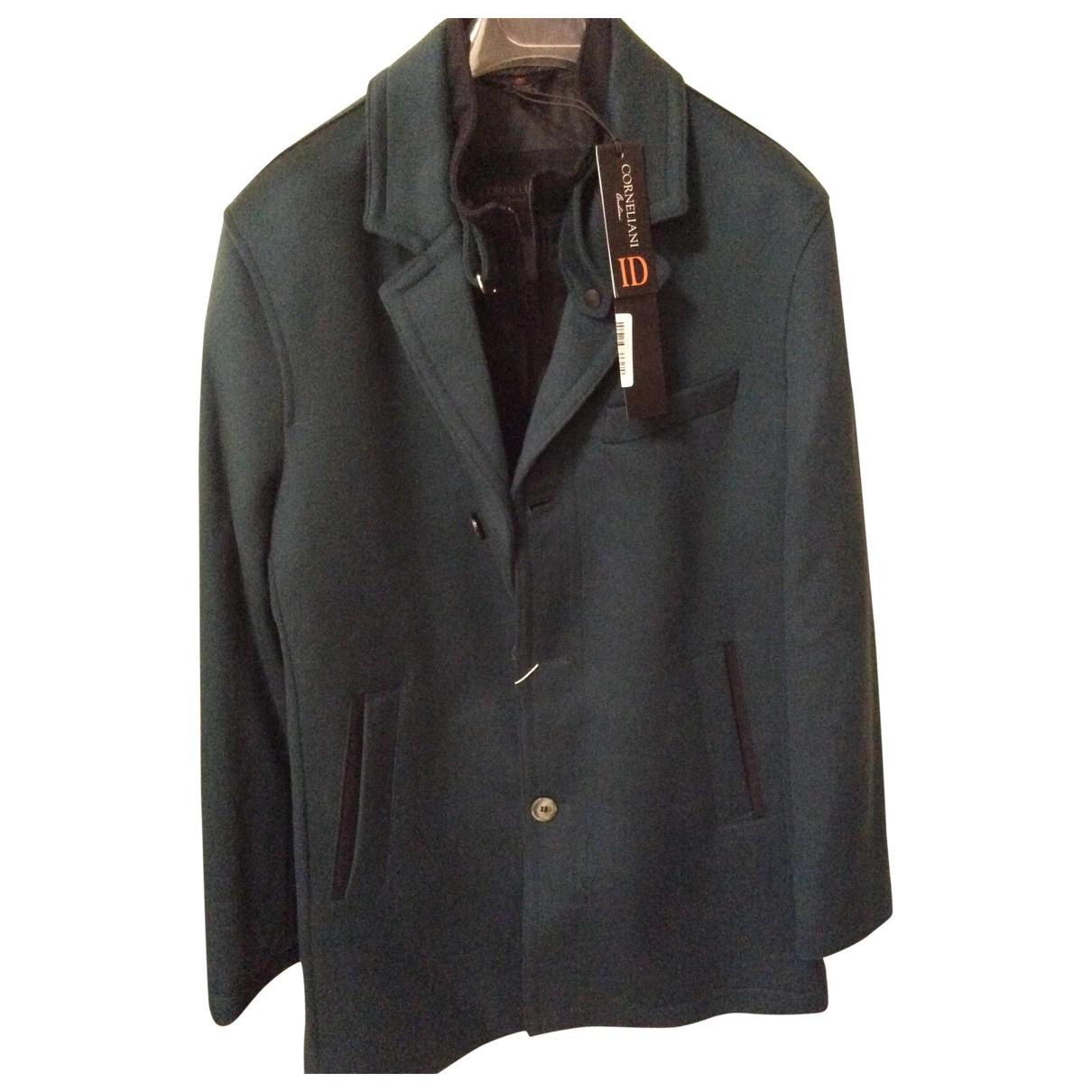 Corneliani - Manteau   pour homme en laine - vert