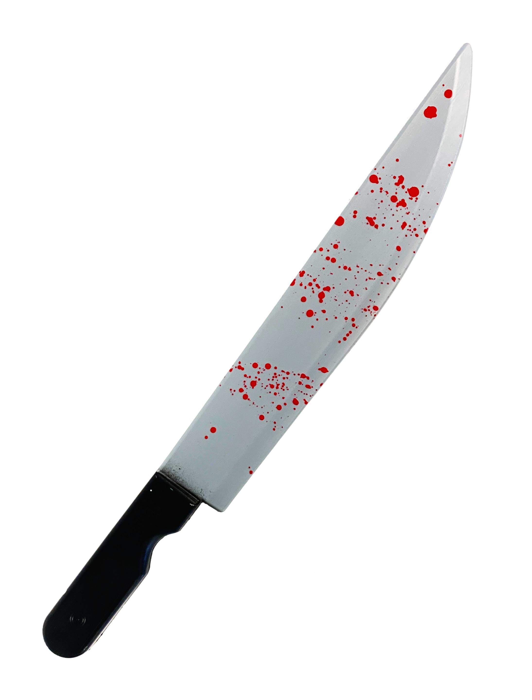 Kostuemzubehor Messer blutig 51cm Farbe: schwarz