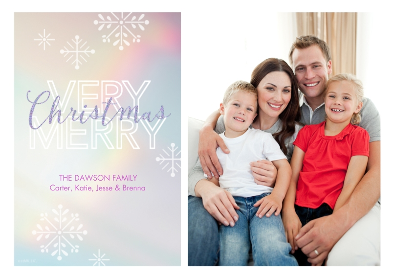 Holiday Photo Cards 5x7 Cards, Premium Cardstock 120lb, Card & Stationery -Snowflake Christmas Wishes by Hallmark