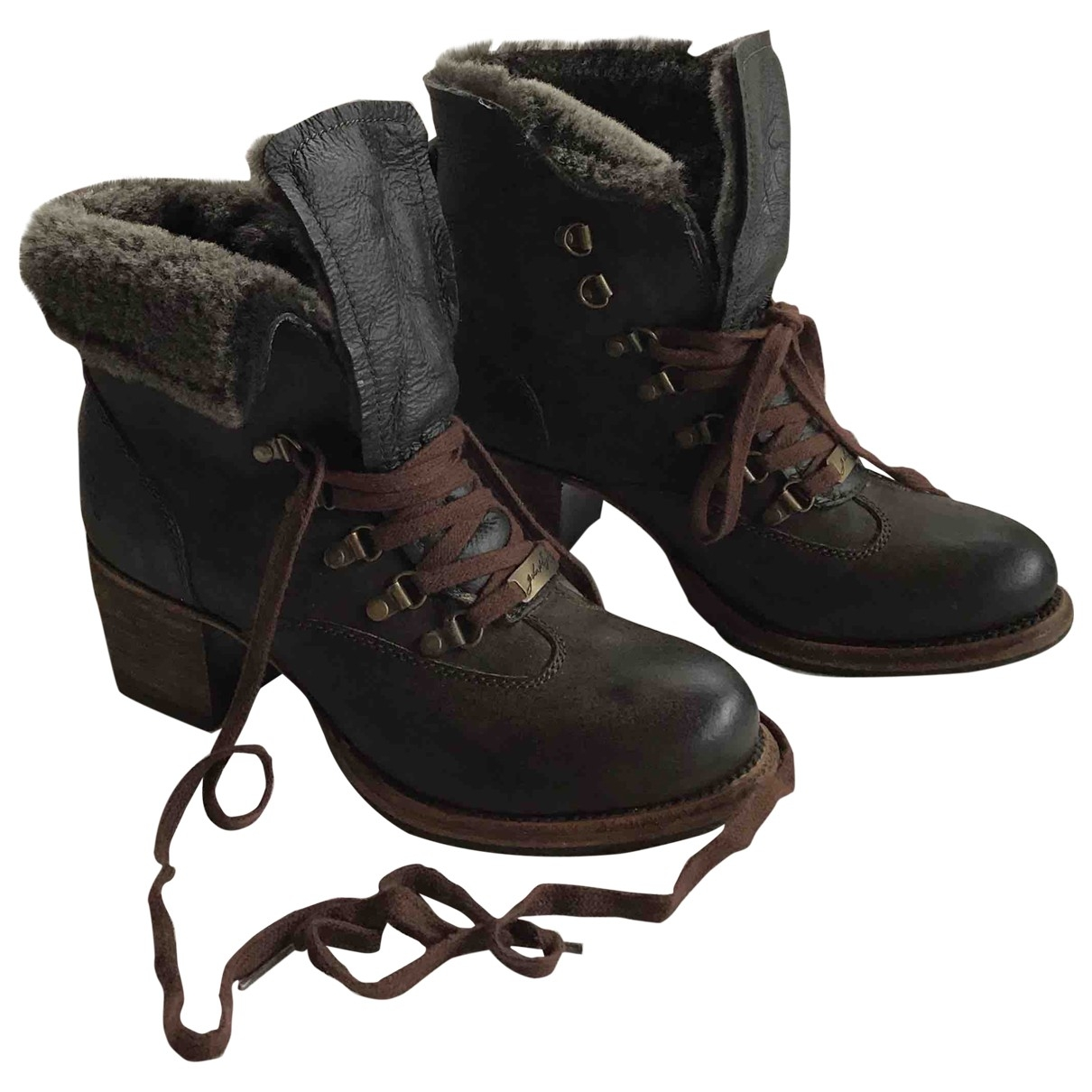 Frye \N Brown Leather Ankle boots for Women 8 US