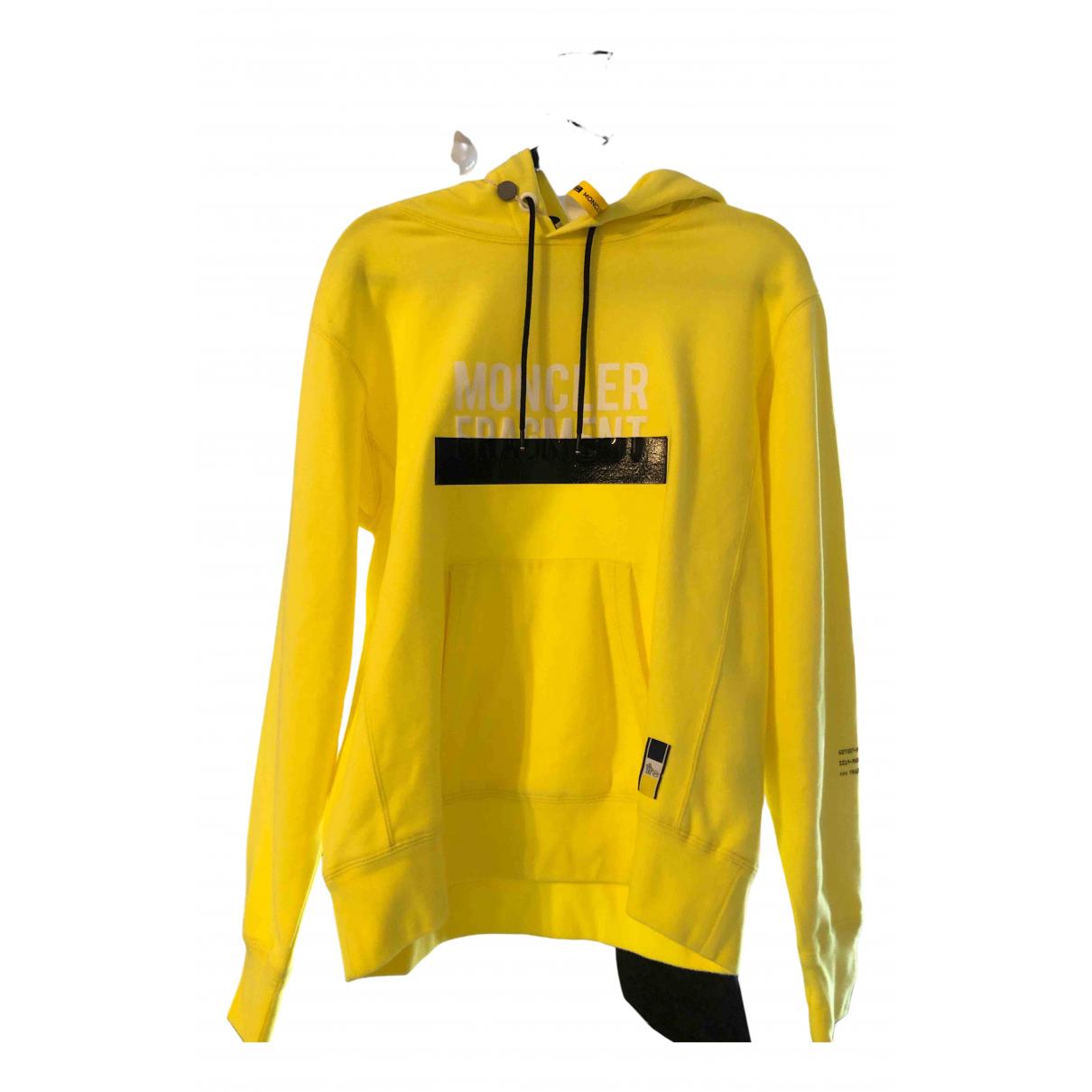 Moncler Genius Moncler n°7 Fragment Hiroshi Fujiwara Pullover.Westen.Sweatshirts  in  Gelb Baumwolle