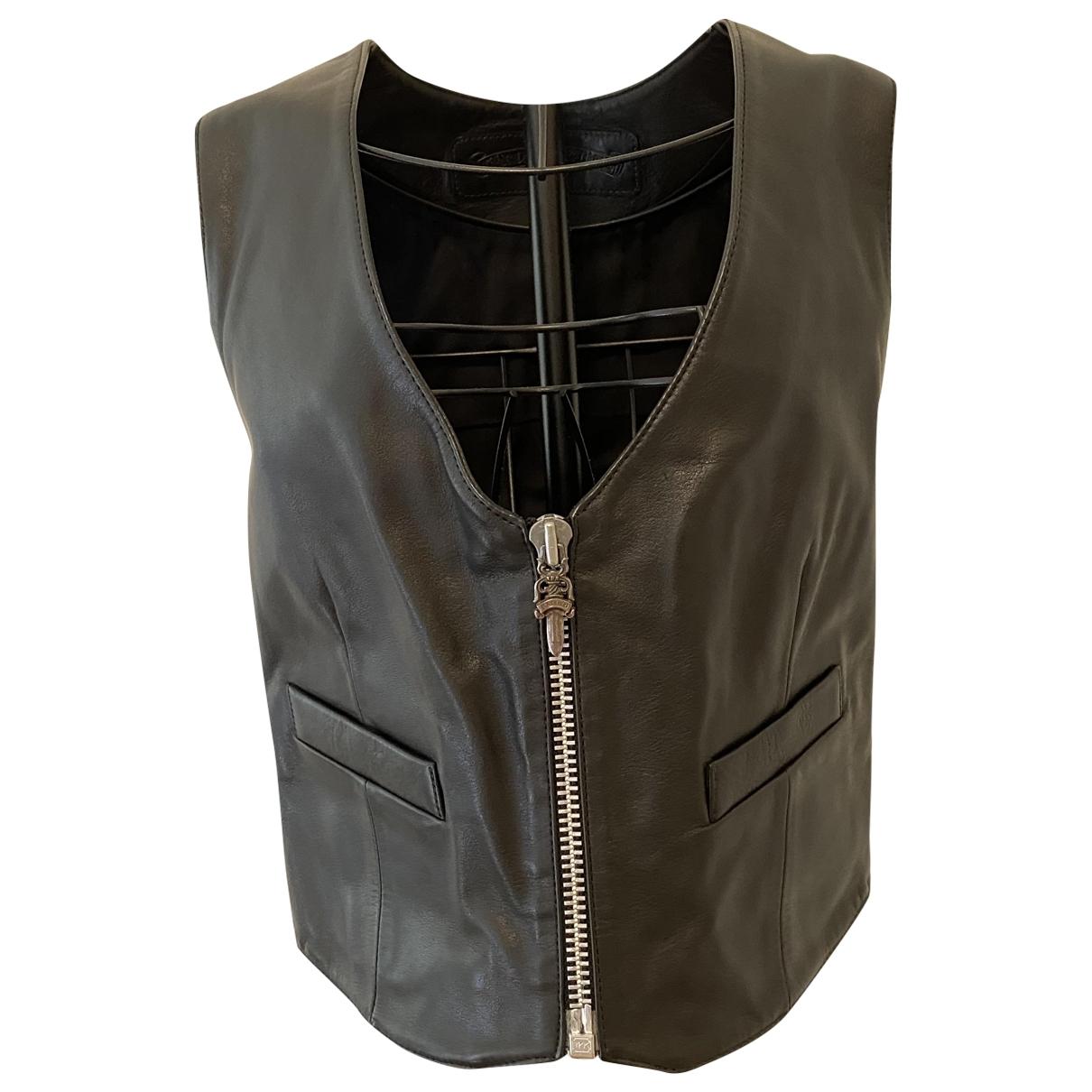 Chrome Hearts - Top   pour femme en cuir - noir