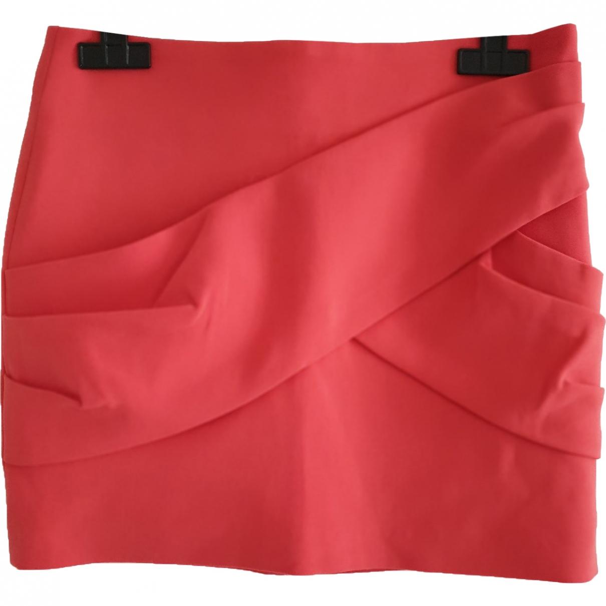 Maje - Jupe   pour femme en coton - elasthane - orange