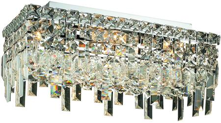 V2035F16C/RC 2035 Maxime Collection Flush Mount L:16In W:8In H:7In Lt:4 Chrome Finish (Royal Cut