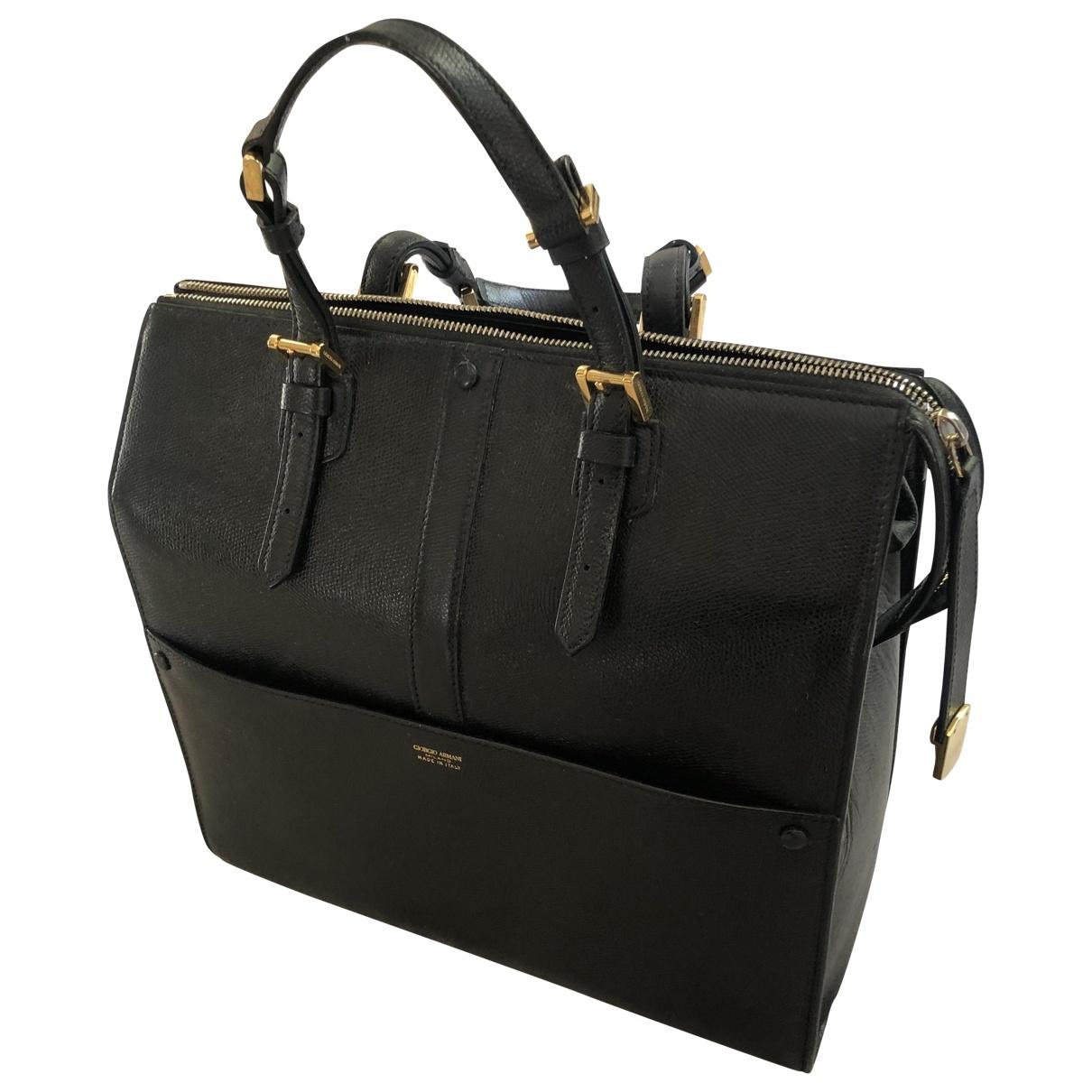 Giorgio Armani - Sac a main   pour femme en cuir - noir