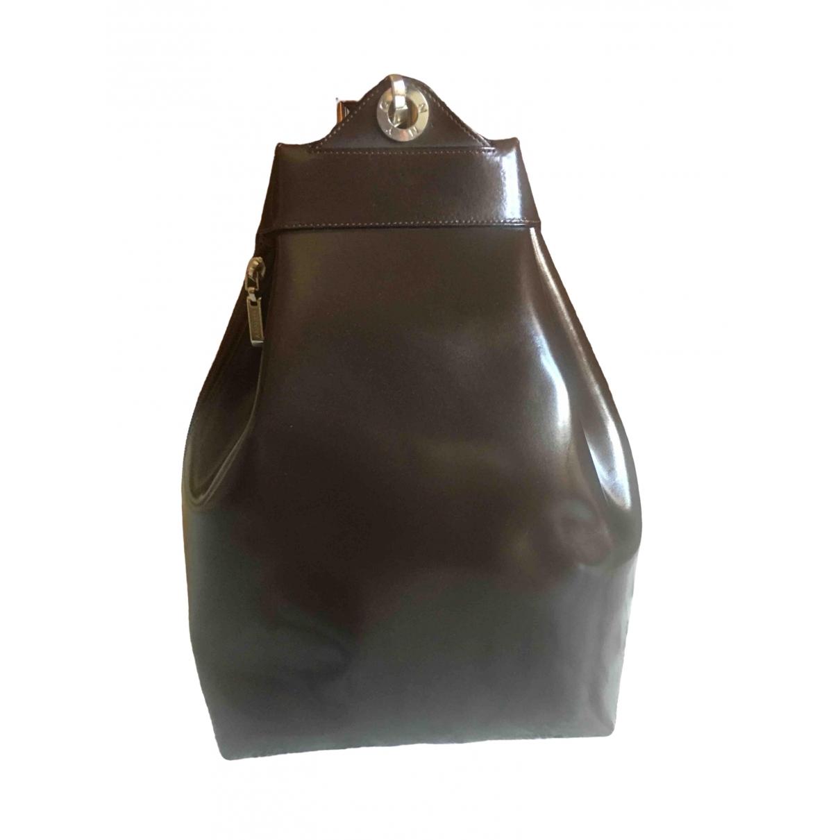 Genny - Sac a dos   pour femme en cuir - marron