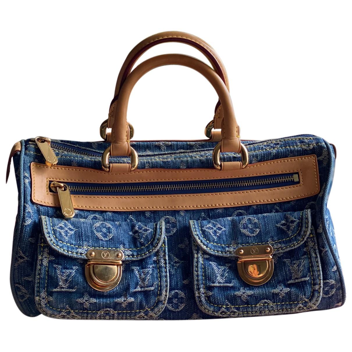 Louis Vuitton - Sac a main Neo speedy pour femme en denim - bleu