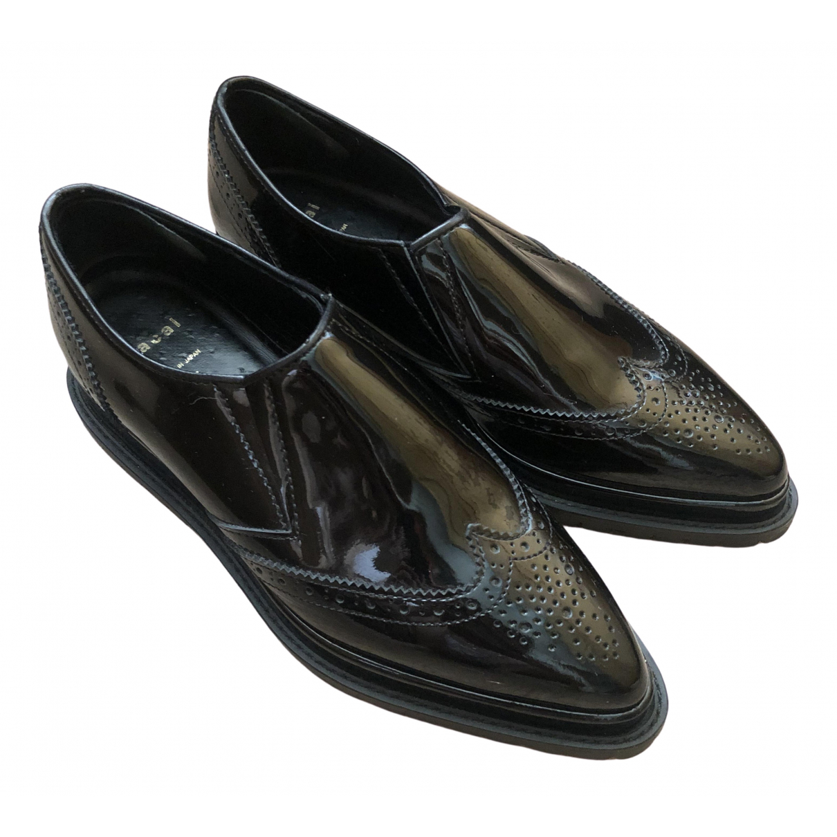 Sacai \N Black Patent leather Flats for Women 37 EU