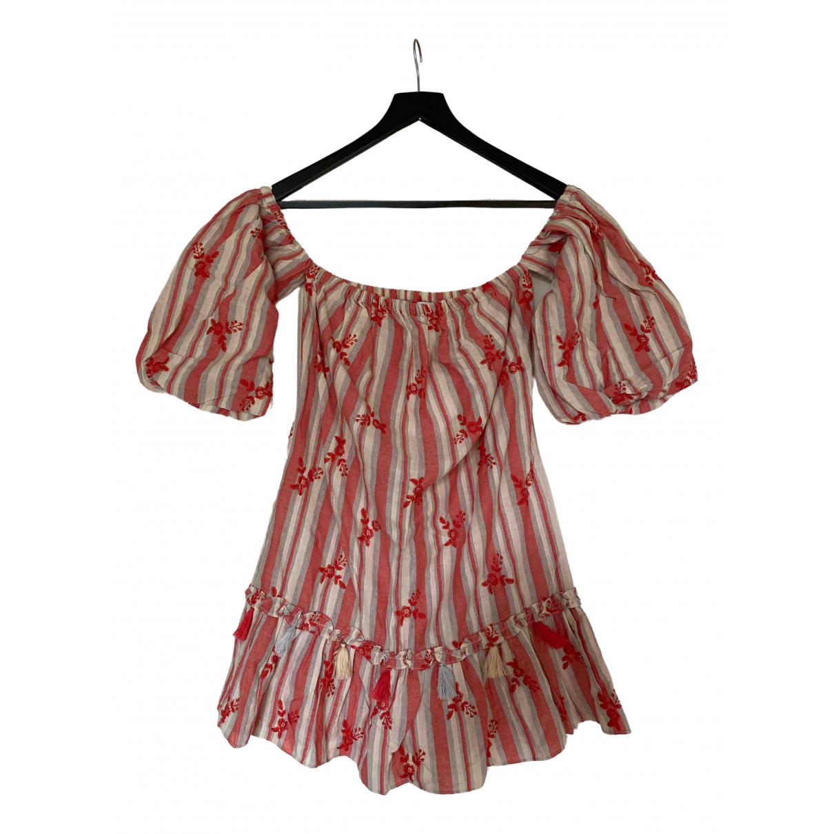 Misa \N Kleid in  Rot Baumwolle