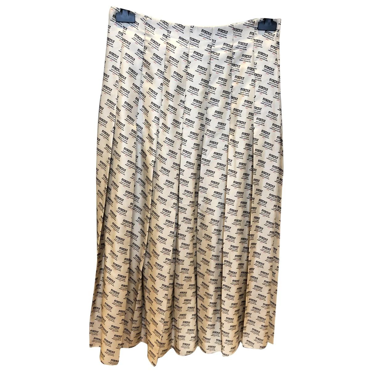 Falda midi de Seda Gucci