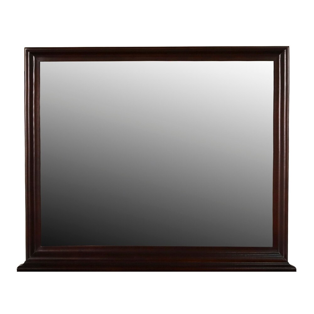 Versailles Landscape Mirror- Bordeaux (Rectangular - Wood - Traditional)