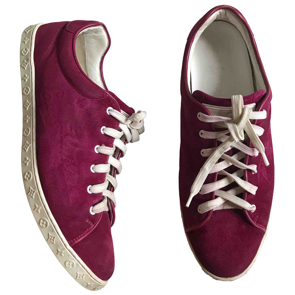 Louis Vuitton FrontRow Sneakers in  Rosa Veloursleder