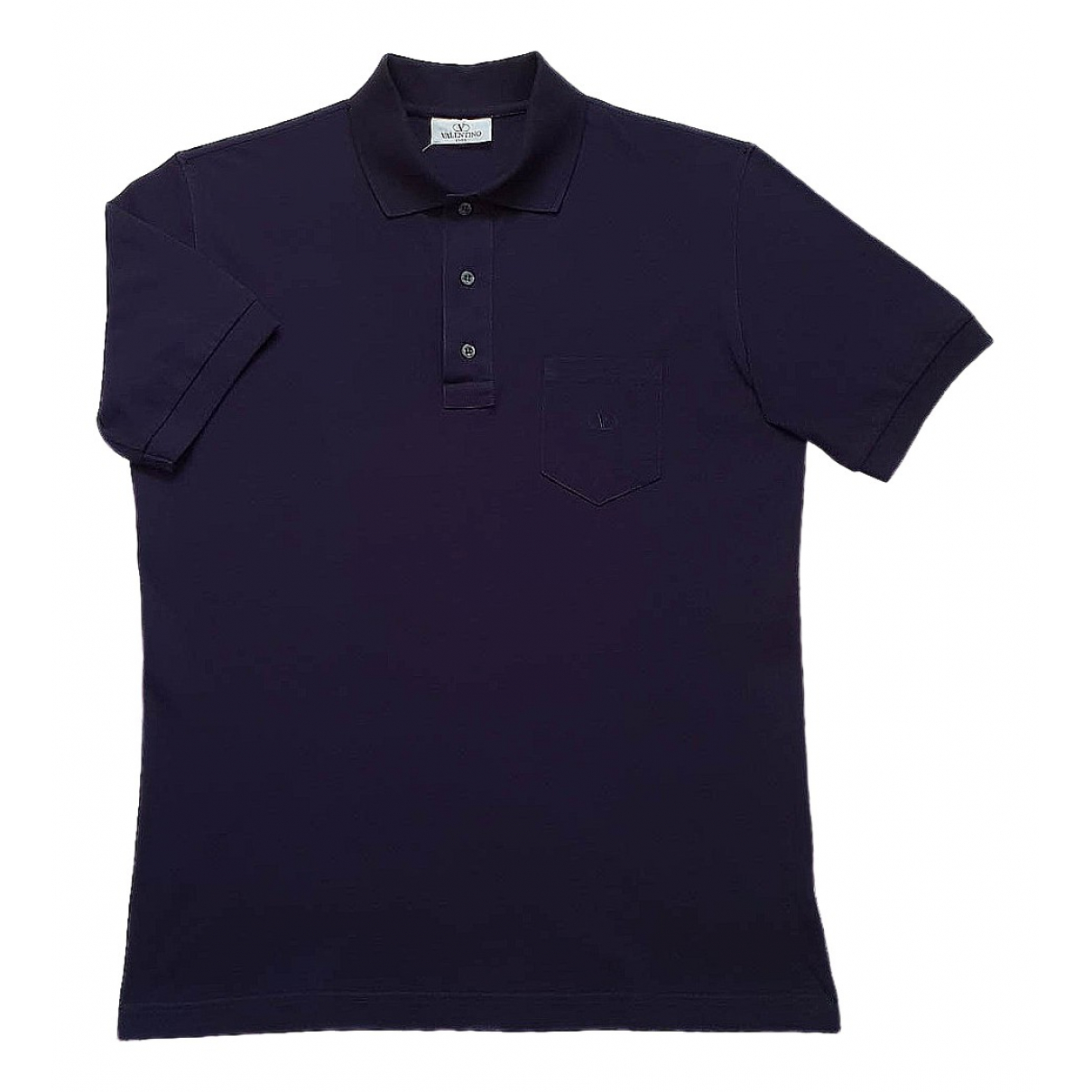Valentino Garavani - Polos   pour homme en coton - bleu