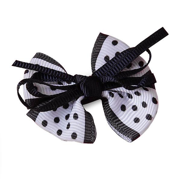 Grosgrain Black Ribbon Boutique Bow 2