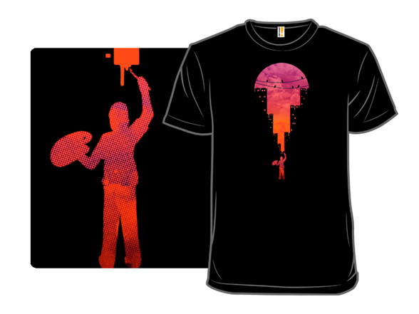 Sunset Painter T Shirt